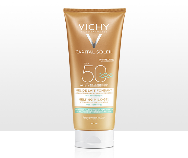Gel ultra fundente FPS 50 para aplicar sobre piel seca o mojada