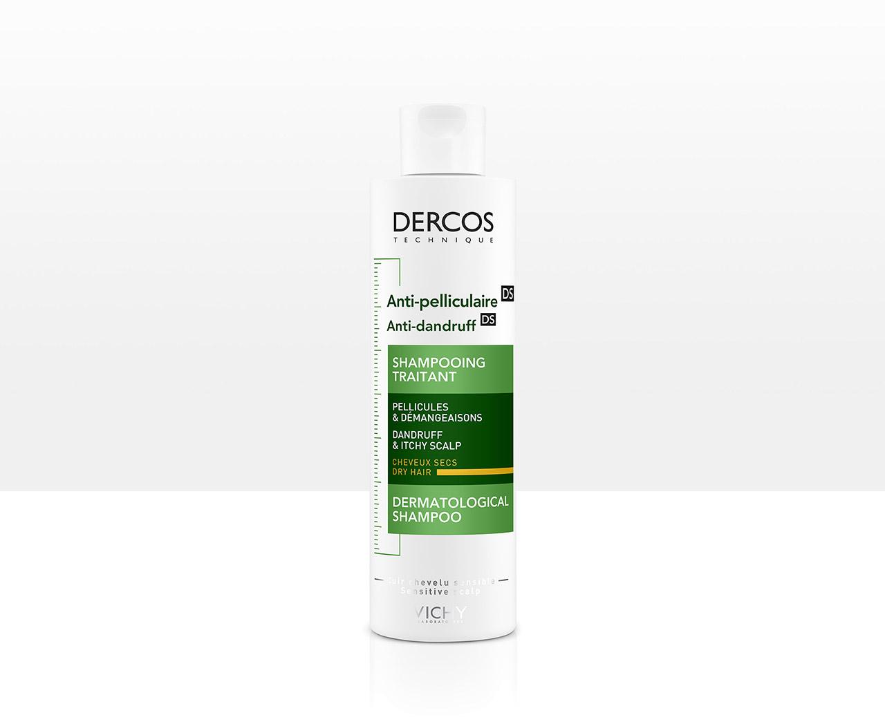 Shampoo anticaspa para el cabello seco