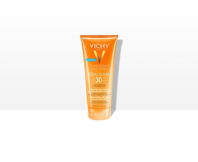 Gel ultra fundente FPS 30 para aplicar sobre piel seca o mojada